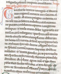 'Brugge, Ms. 403, f. 78r, aanvang van het heiligenleven van Knoet ofte Canutus'